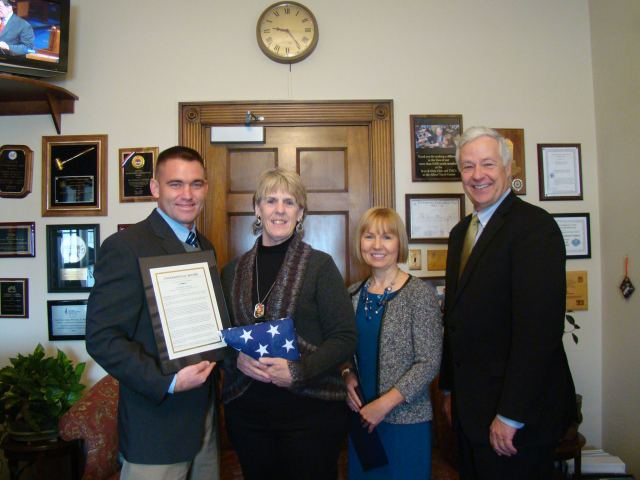 Congressman Mike Michaud Flag Presentation