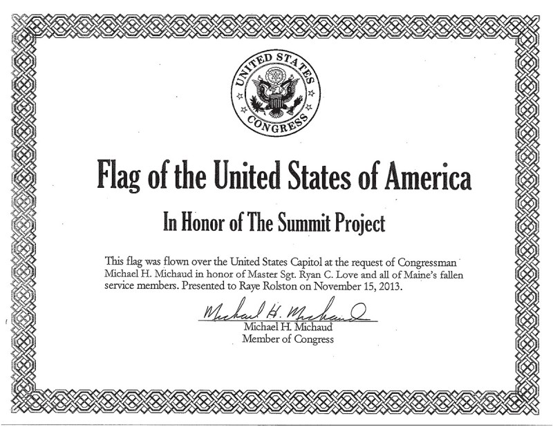 The Summit Project Official Flag Certification